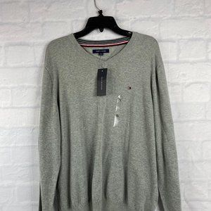 Tommy Hilfiger Pull Over V-Neck Sweater Gray